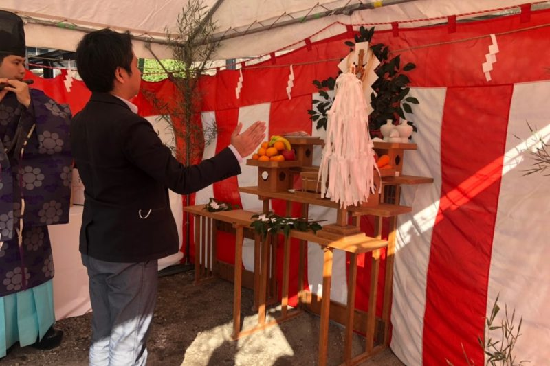 宇宿の家 地鎮祭