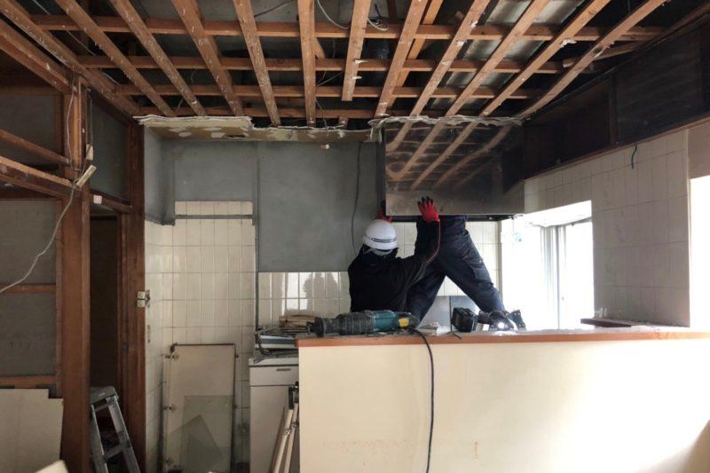 高麗町の家改修工事 内装解体